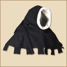 Jona hood black wool
