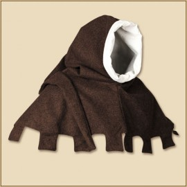 Jona hood brown wool