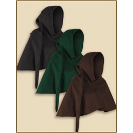 Benson hood green L-XL wool