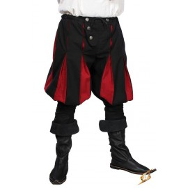 Landsknecht Pants - Black/Dark Red - Small