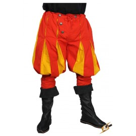 Landsknecht Pants - Black/Dark Red - XX-Large
