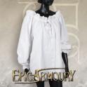 Pirate Shirt White Small - X large