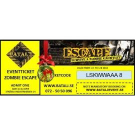 Zombie Escape Julklappsbiljett