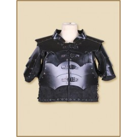 Leather Armour Jacket Rasmus black