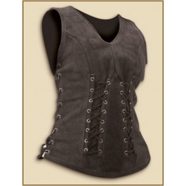 Leather Bodice Sarina black small/medium
