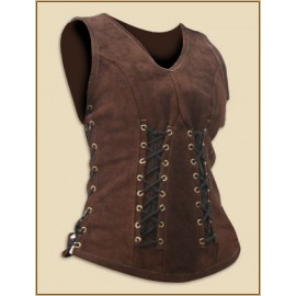 Leather Bodice Sarina brown small/medium