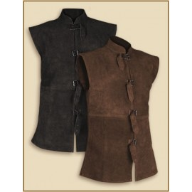 Leather Vest Orthello Brown XL