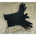 Leather gloves Black Medium