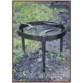 Medieval Tripod Cooking Stand, forged steel, round dia 25 cm