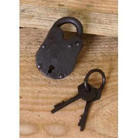 small Padlock with two Keys, Steel
