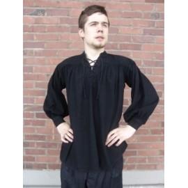 Typical medieval cotton shirt Black M