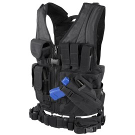 Elite Cross Draw Tactical Vest Black