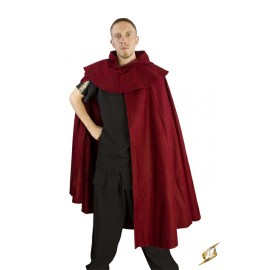 Cloak Wool Dark Red