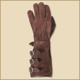 Gloves Kandor Suede Leather Brown Large