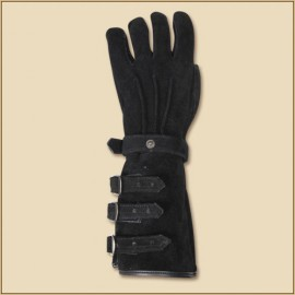 Gloves Kandor Suede Leather Black Large
