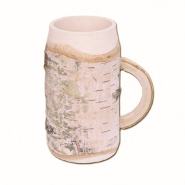 Mug with handle, birch wood