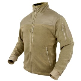 ALPHA Micro Fleece Jacket Tan Small