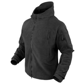 SIERRA Hooded Fleece Jacket BK XXLarge