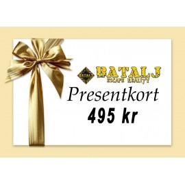 Presentkort alla Bataljs event