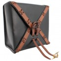 Square Leather Bag - Black