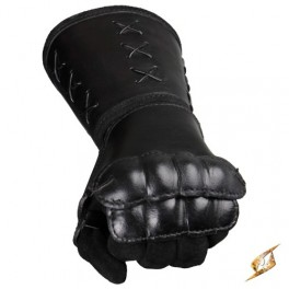 Leather Gauntlet Left hand - Black